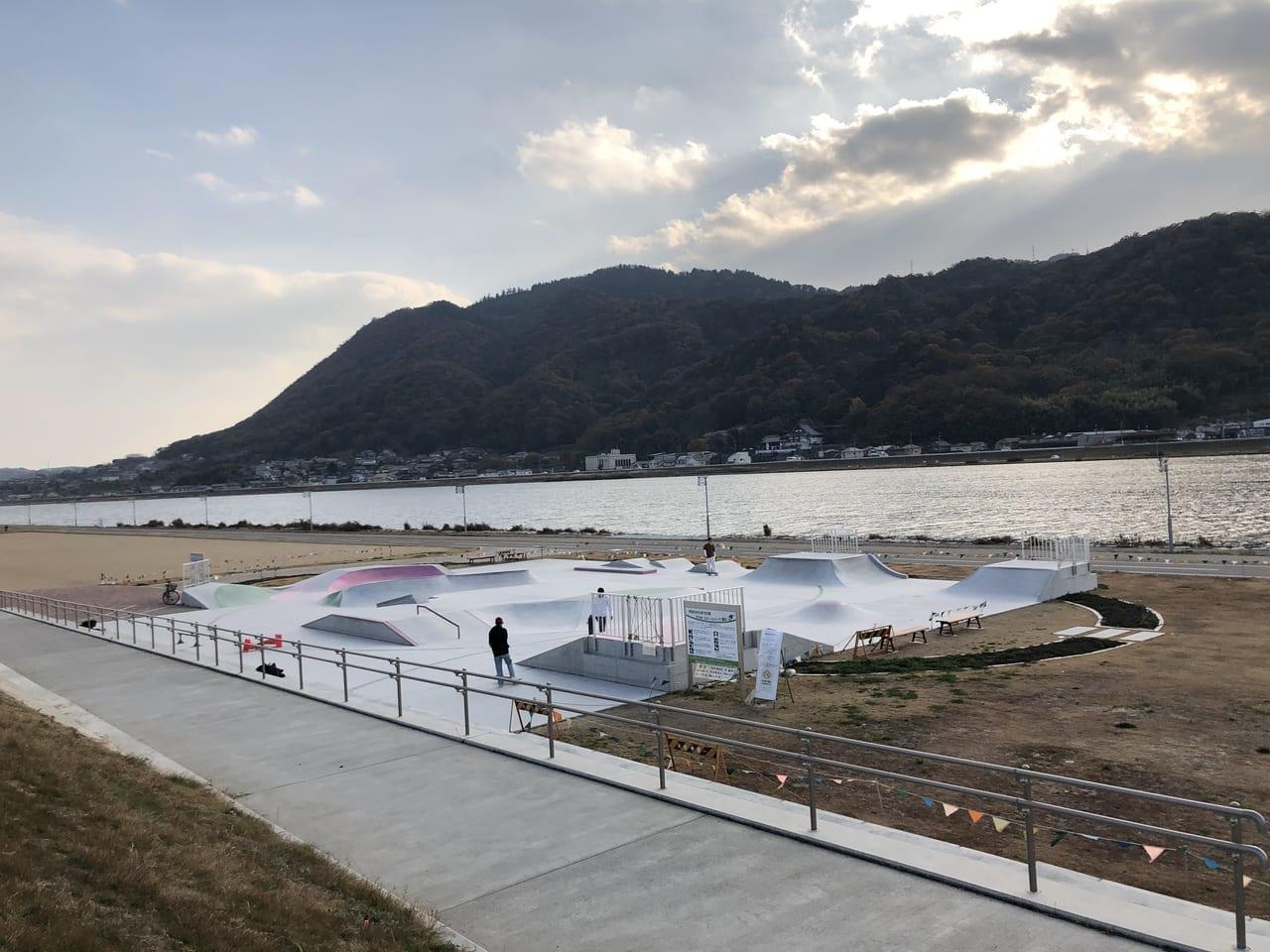芦田川かわまち広場スケートパーク付近
